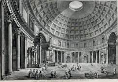 GIOVANNI PIRANESI  Veduta Interna Del Panteon