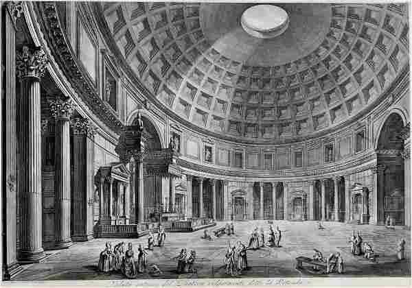 GIOVANNI PIRANESI - Veduta Interna Del Panteon