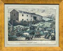 CURRIER & IVES Colored Lithograph, Noah's Ark