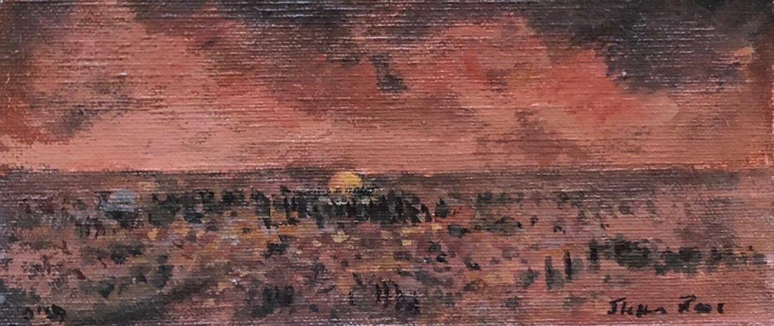 Illegibly Signed Impressionist Landscape