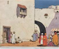 Edgar L. Pattison (b. 1872) Middle Eastern Street Scene