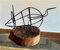 Folk Art Mouse Sculpture In Style Of Alexander Calder
