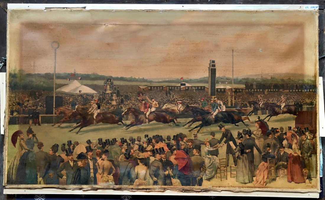 ISAAC CULLIN (UK, New York 1859-1942) French Horse Race - 2