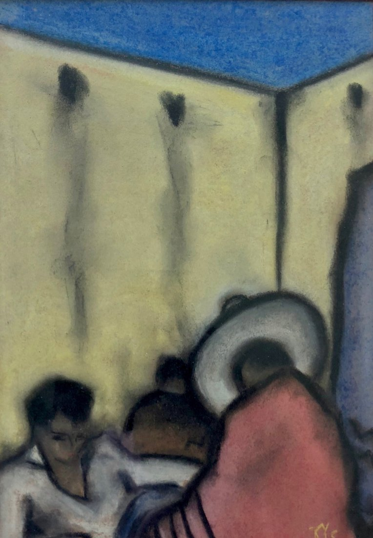 Early 20th Century Mexican Modernist Pastel