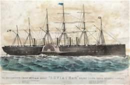 "CURRIER & IVES, ""Leviathan"" Steam Ship"