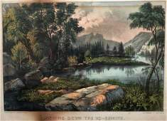 CURRIER & IVES, Looking Down The Yo-Semite