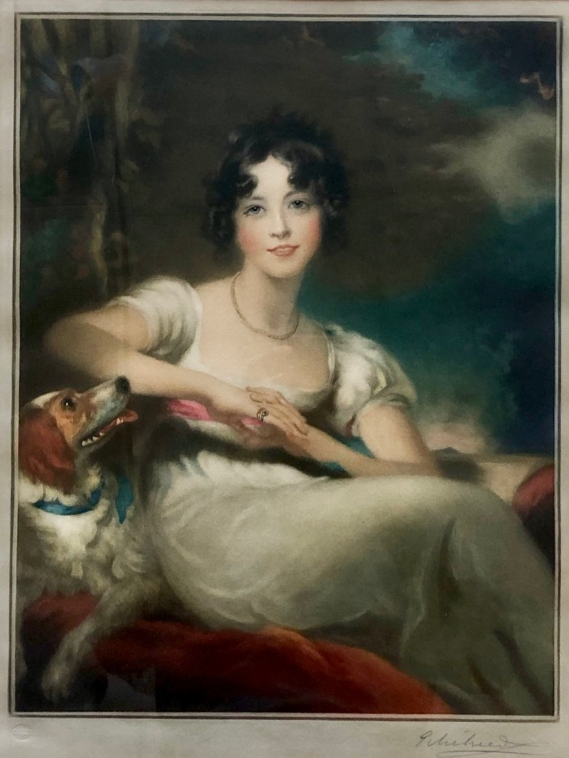 """Lady Conyngham & Dog"" By Sir Thomas Lawrence"