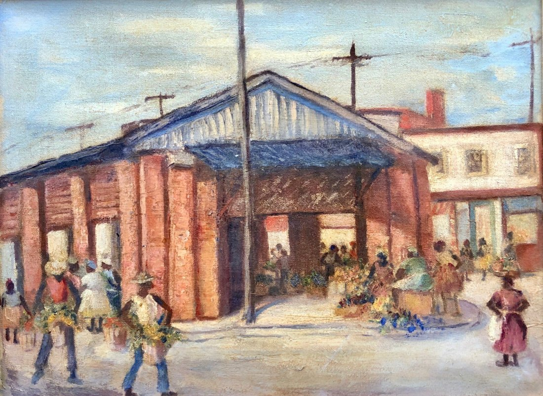 Impressionist Scene Of The Historic Charleston Market