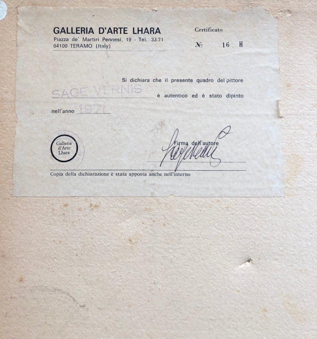 SAGE VERNIS (b 1916, Italy) Modernist - 3
