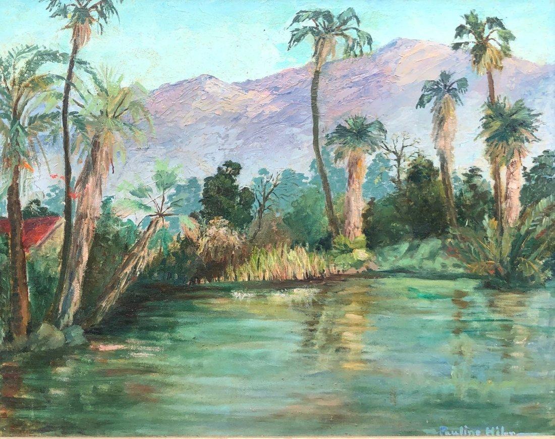 PAULINE HILER (1892-1977, California) Tropical Scene
