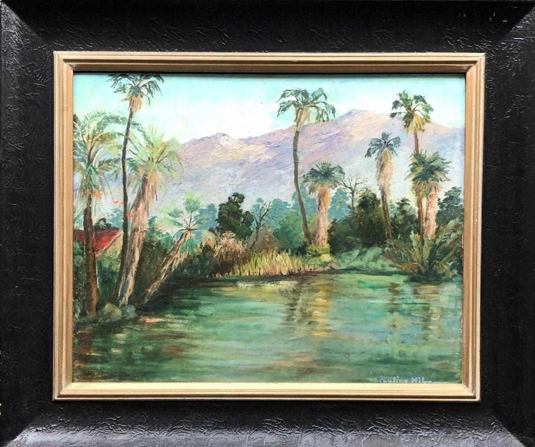 PAULINE HILER (1892-1977, California) Tropical Scene - 2