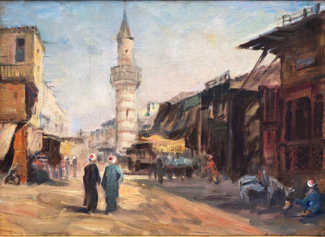 EJNAR R. LARSEN (1902-1986, Denmark) Orientalist Scene