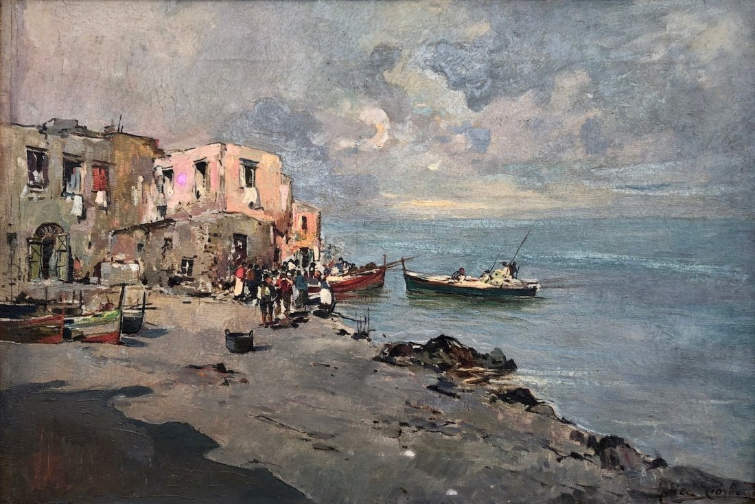 FELICE GIORDANO (1880-1964, Italy) Impressionist