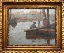 DIMITRIOS LITSAS (1883-1952, Greece) Nile River Scene
