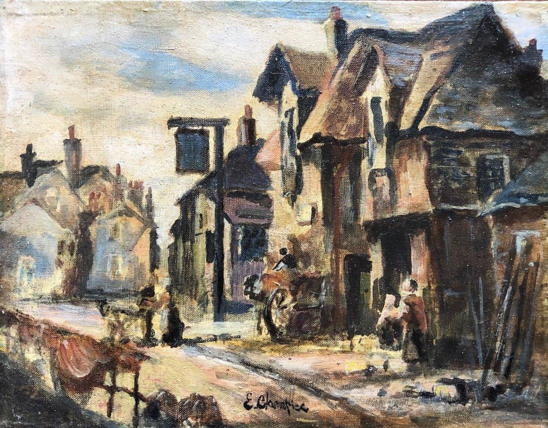 Illegibly Signed French Impressionist Street Scene