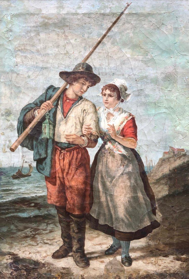 ADOLPH ARTZ (1837-1890, Dutch) Boy & Girl