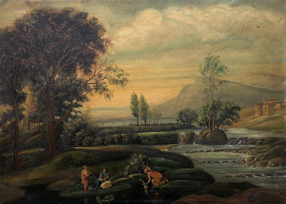 BENISH MININBERG (1902-1996, Israel) Picnic Landscape