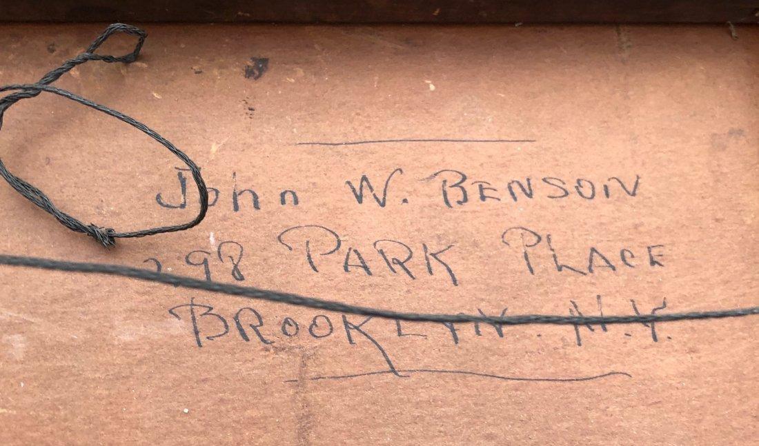 JOHN W. BENSON (American, 20th) National Academy Exh. - 3