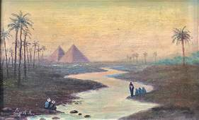 ANTAL LIGETI (1823-1890, Hungary) Orientalist Landscape
