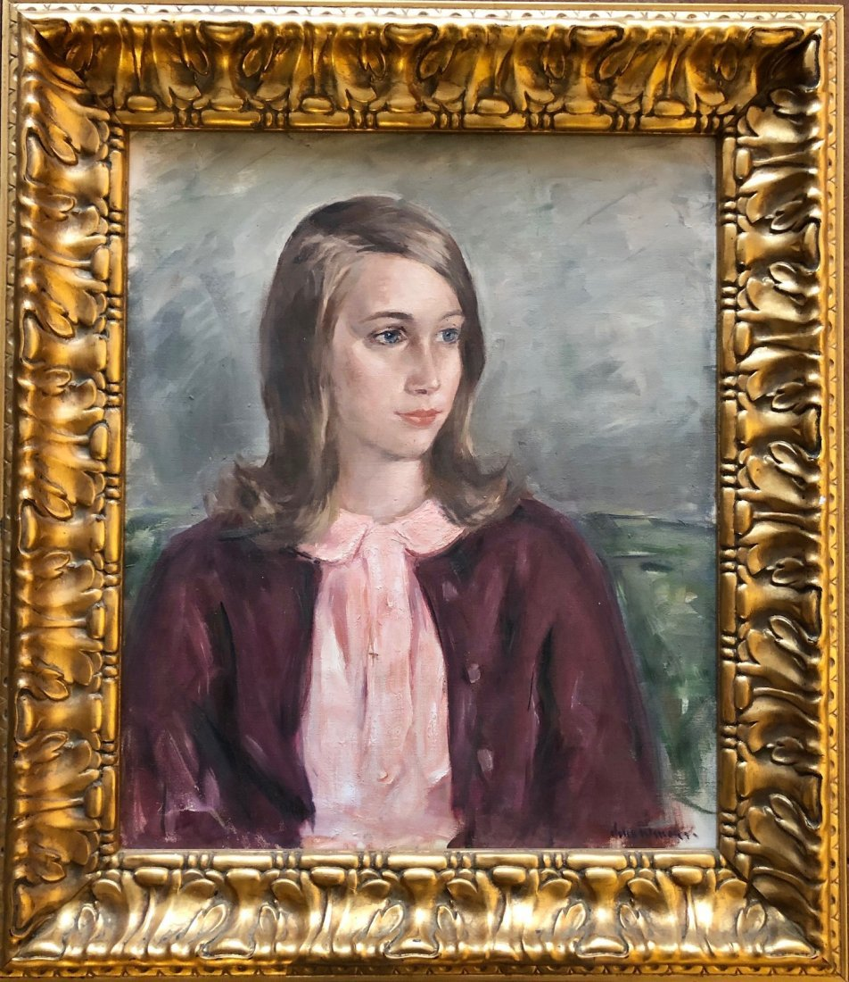 JOHN FOLINSBEE (1892-1972, Pennsylvania) Girl Portrait