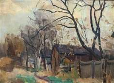Early 20th C Illegibly Signed Impressionist Landscape