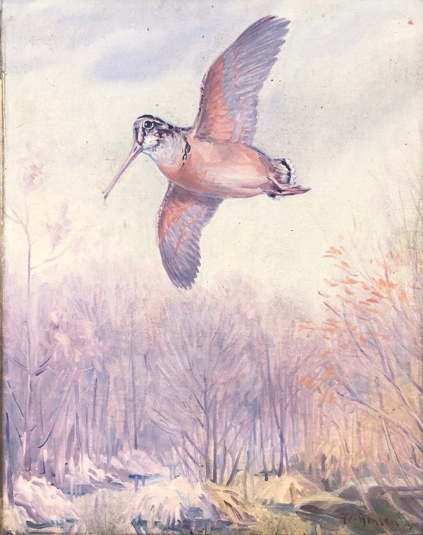 Painting Of A Grouse Game Bird Signed Fr. Benson