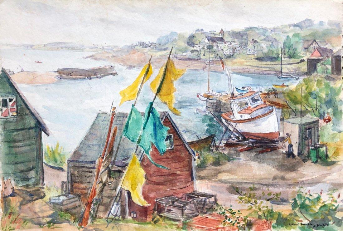 GRACE HUNTLEY PUGH (1912-2010, American) Cape Cod Scene