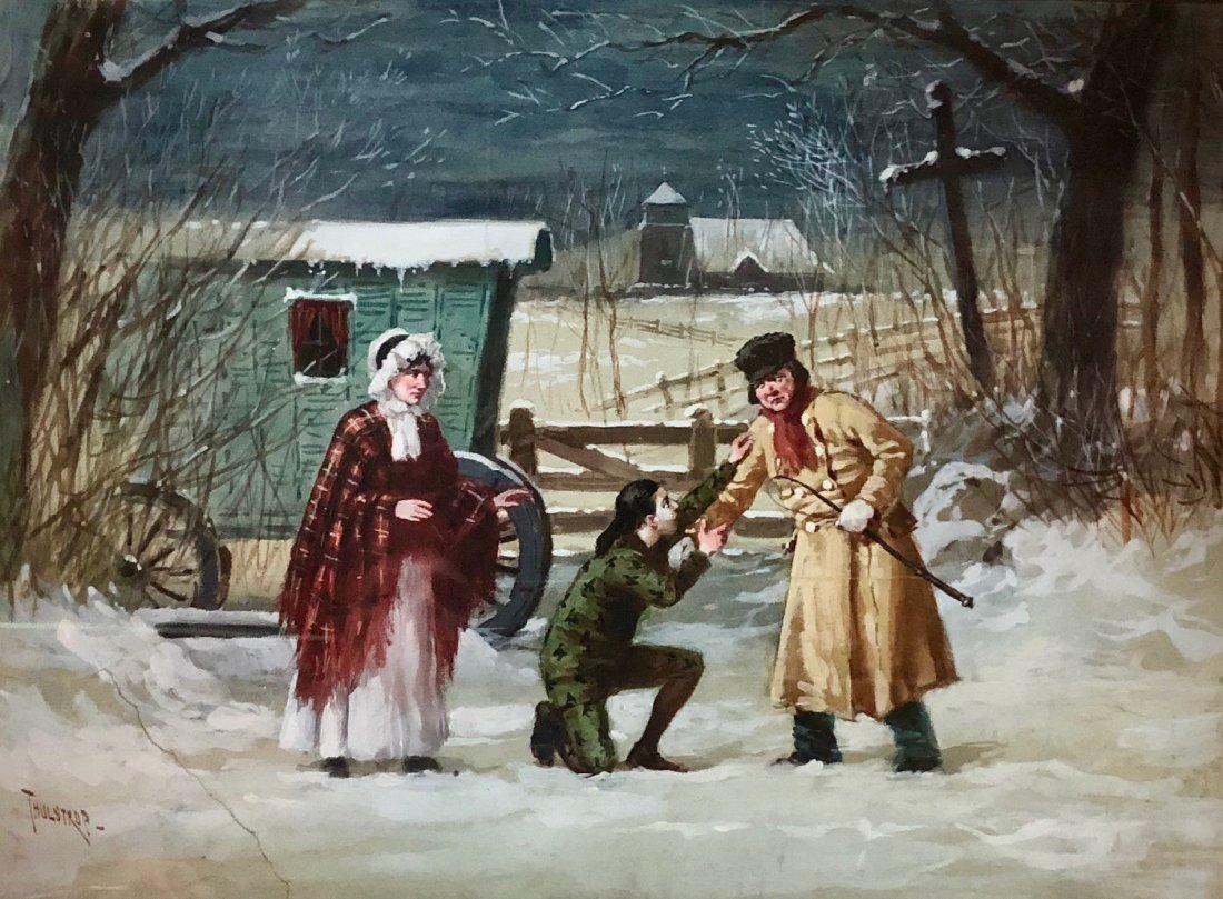 BROR THULSTRUP (1848-1930, Sweden) Illustration