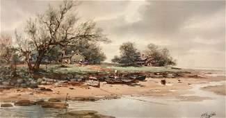 FRANK ENGLISH (1854-1922, Delaware) Landscape