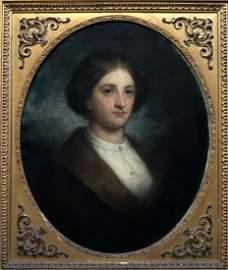 JOSEPH AMES (1816-1872, American) Portrait Of Woman