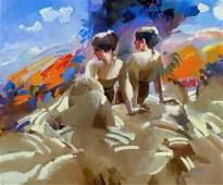 KEITH LINDBERG b1938 Missouri Expressionist Figures