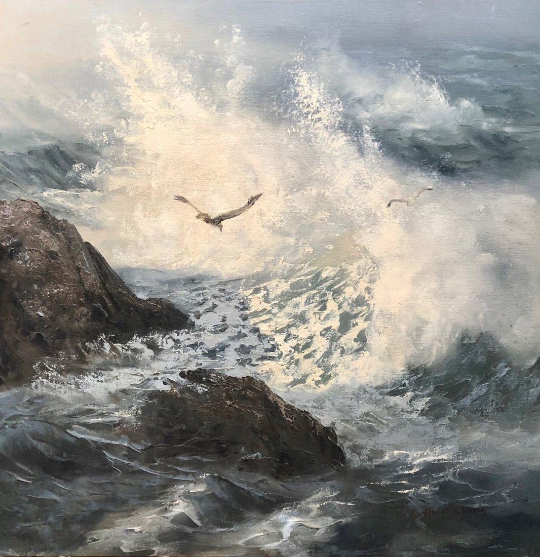 SEGUNDO HUERTAS (1923-2010, Argentina) Seascape