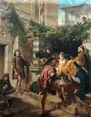 DOMENICO MORELLI (1826-1901, Italy) Street Musicians