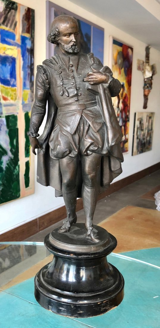 19th Century Bronze Sculpture Of Shakespeare