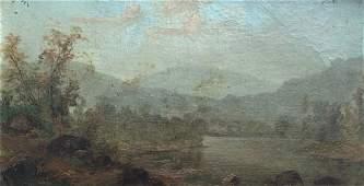 Early Impressionist Hudson River School Landscape