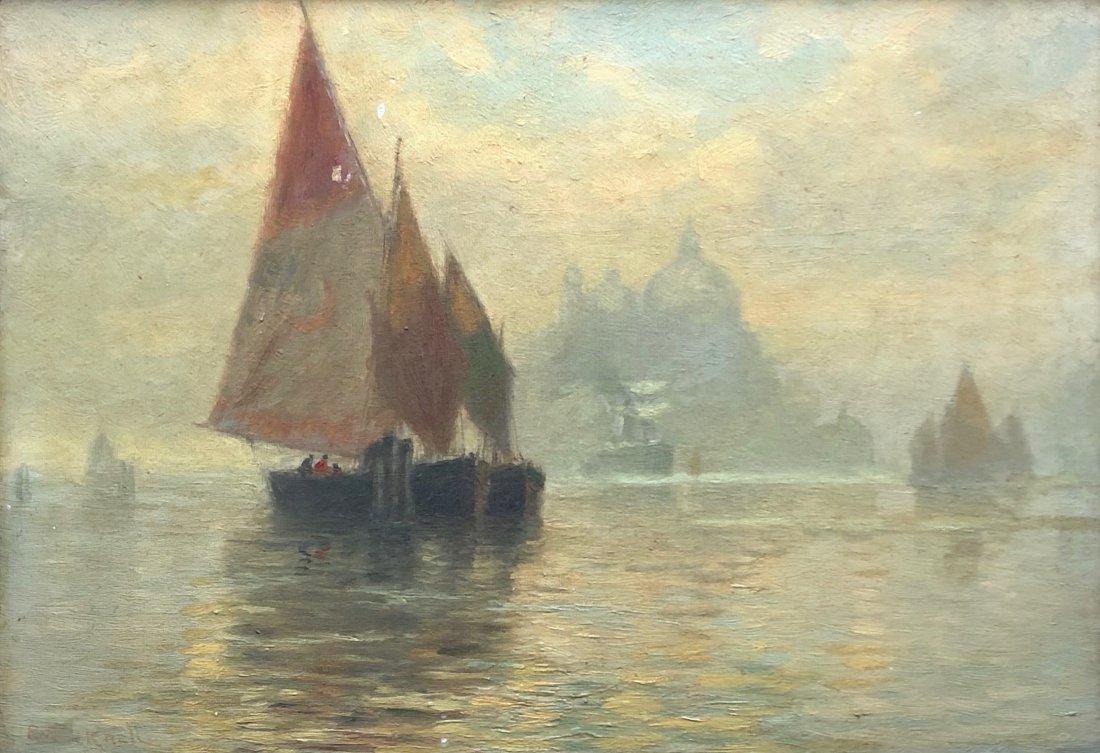 EVELYN BICKNELL (1857-1936, NY, Bermuda) Seascape