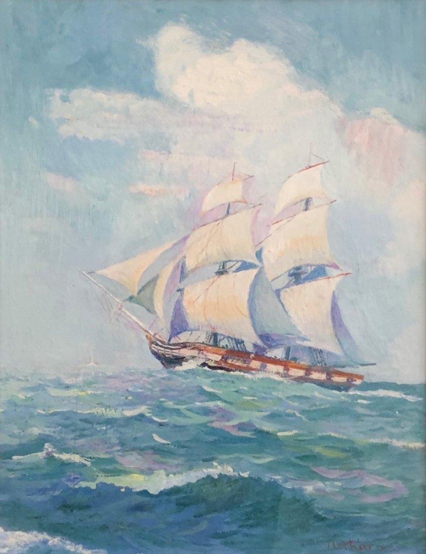 STANLEY ARTHURS (1877-1950, Delaware) The Kalmar Nyckel