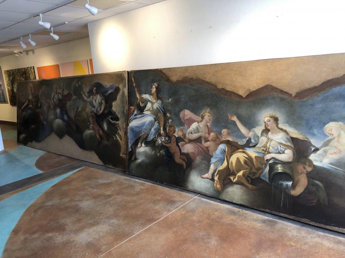 Large 17th Century Museum Old Master Allegorical Scenes