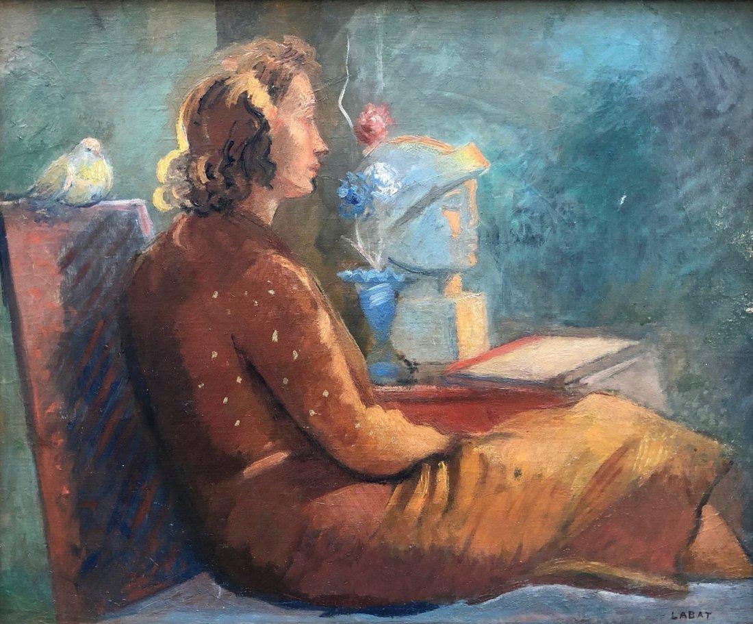 FERNAND LABAT (1889-1959, France) Modernist Portrait