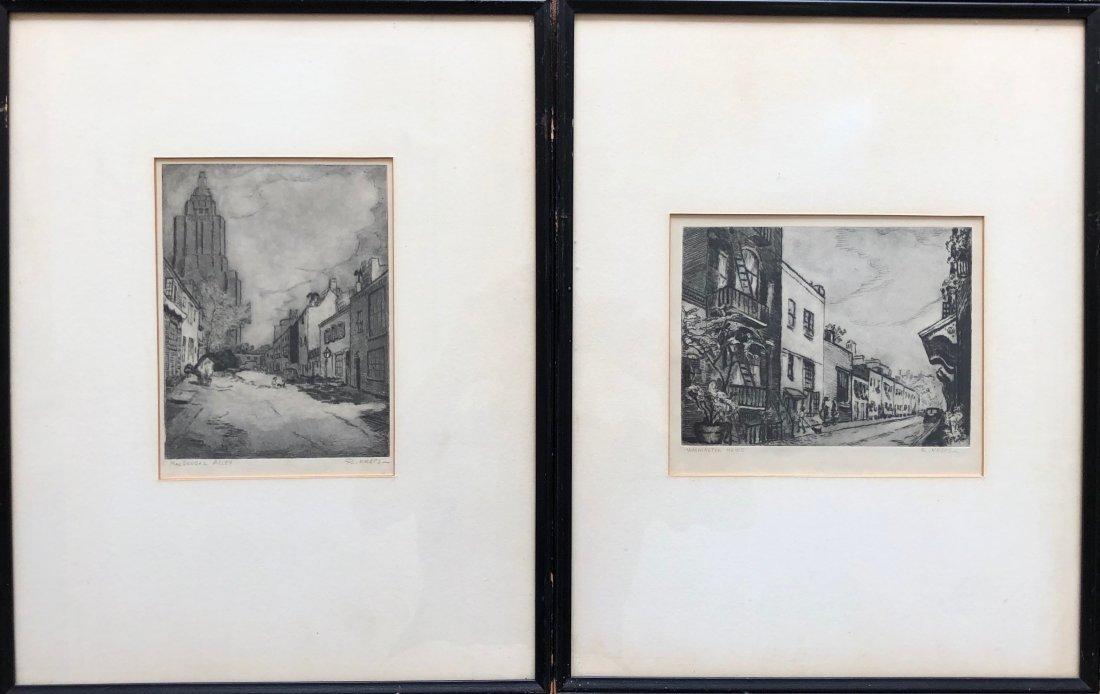 RUTH M. KREPS (b. 1900, Washington) WPA NYC Etchings
