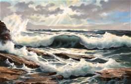 M C Malcolm WAITE 20th c Cape Cod Seascape