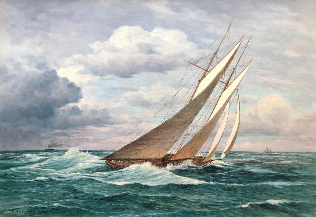 HANS LIEBL (1900-1984, Pennsylvania) Seascape