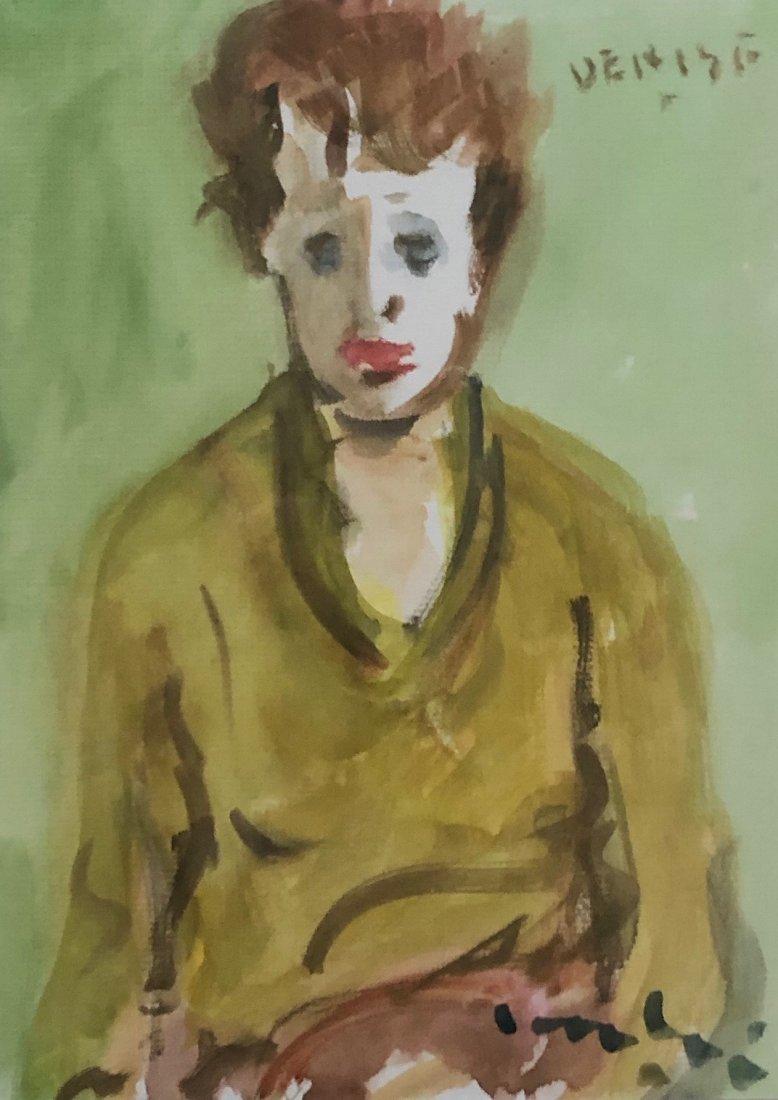 ROGER CANTIN (b. 1930, Canada) Modernist Portrait