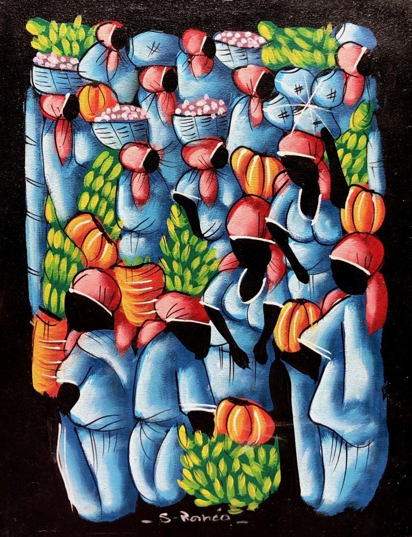 Haitian Folk Art, Modern Figures Signed