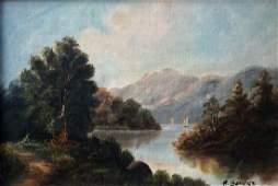 HEINRICH BERGER b 1898 Germany Landscape