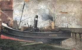 ADOLF KAUFMANN (1848-1916, Germany) Valk Boat