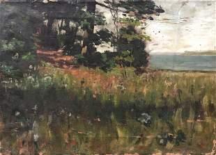 19th Century Impressionist Landscape, Signed
