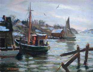 JOSEPH RIMINI (1920-2000, Massachusetts) Habor