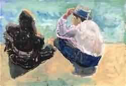 ELENA MARIA DE HELLEBRANTH (20th c, American) Beach