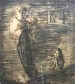 ELENA MARIA DE HELLEBRANTH (20th c, American) In Prayer